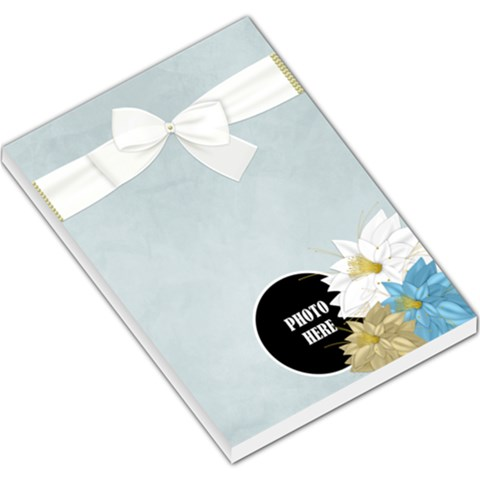 Crossing Winter Large Note Pad 1 By Lisa Minor   Large Memo Pads   9oaenpadsz7b   Www Artscow Com