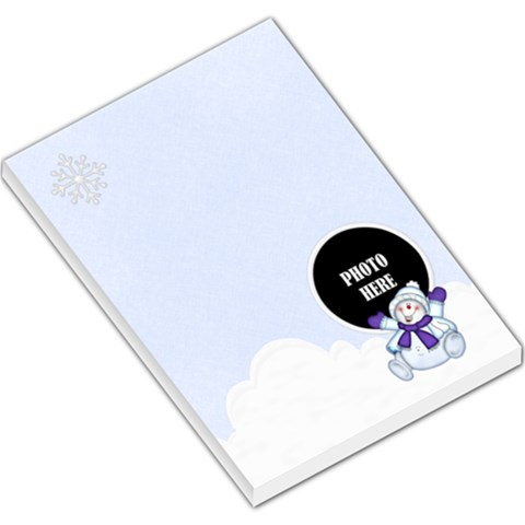 Five Little Snowmen Memo Pad 1 By Lisa Minor   Large Memo Pads   M4pqbz65s2cr   Www Artscow Com