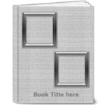 Black and Silver Deluxe 8x10 Book - 8x10 Deluxe Photo Book (20 pages)