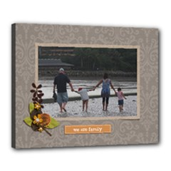 Canvas 20  x 16  (Stretched): We Are Family