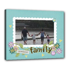 Canvas 20  x 16  (Stretched): Precious Family