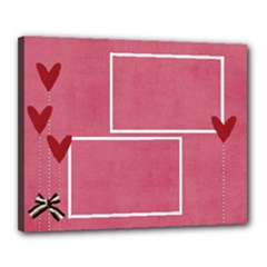 Canvas 20  x 16  (Stretched): Hearts