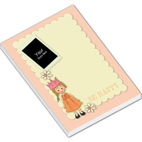 Be Happy Pad By Lillyskite   Large Memo Pads   7lfsev8f2pty   Www Artscow Com