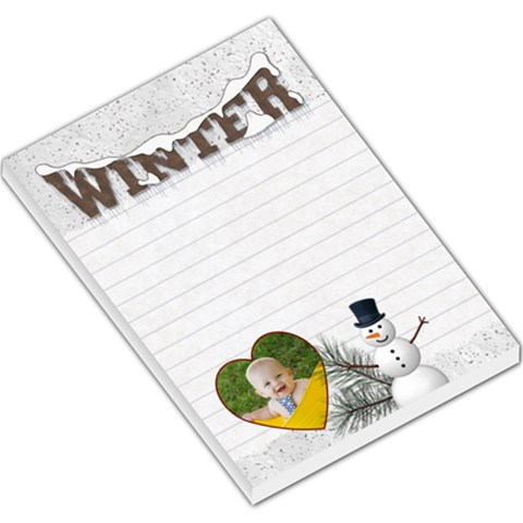 Winter Large Memo Pad By Lil    Large Memo Pads   Vuu2ehynuf9f   Www Artscow Com