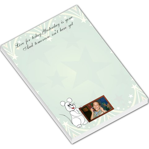 Live For Today Large Memo Pad By Kim Blair   Large Memo Pads   754hz5afr58z   Www Artscow Com