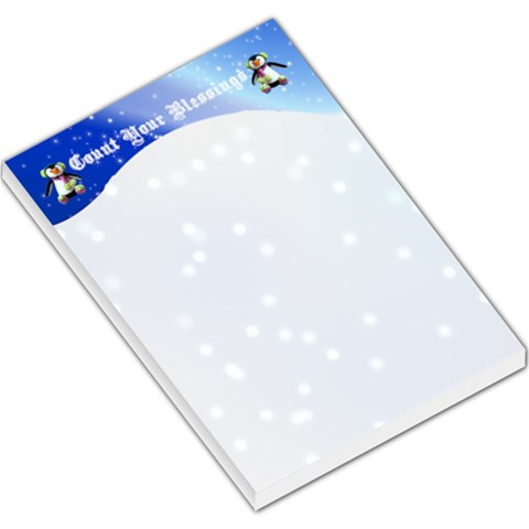 Count Your Blessing Lg Memo Pad By Kim Blair   Large Memo Pads   Vd4p9puokloq   Www Artscow Com