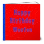 Red and Blue Superhero Book - 8x8 Photo Book (20 pages)