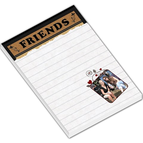 Friends Hearts Large Memo Pad By Lil    Large Memo Pads   E6e9vz4sor6a   Www Artscow Com