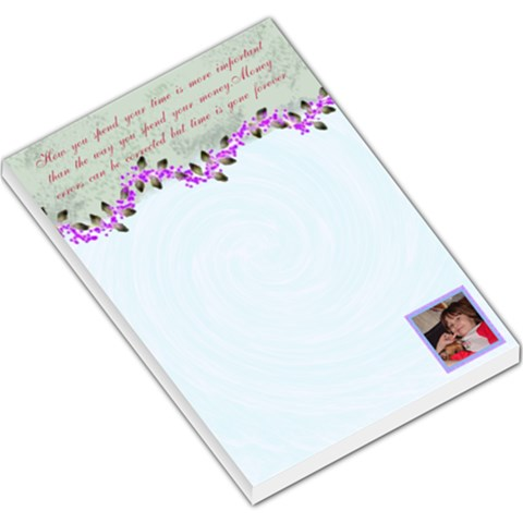 How  You Spend Large Memo Pad By Kim Blair   Large Memo Pads   3xbkr54mkkwd   Www Artscow Com