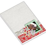 Teal & Red- large note pad - Large Memo Pads