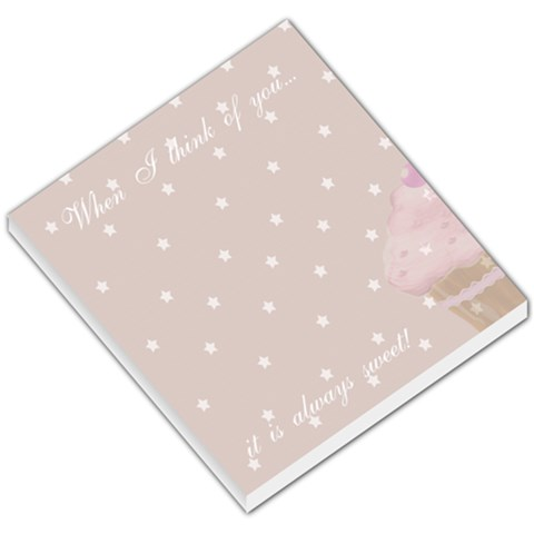 When I Think Of You Small Memo Pad By Claire Mcallen   Small Memo Pads   Wfk8khj5tn0h   Www Artscow Com