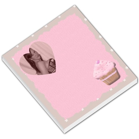 Cupcake Loveheart Small Memo By Claire Mcallen   Small Memo Pads   8gp9b7stej7h   Www Artscow Com