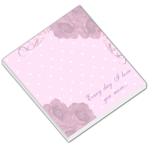 Every Day I Love You More Small Memo Pad By Claire Mcallen   Small Memo Pads   Qzv9rp68vz2m   Www Artscow Com
