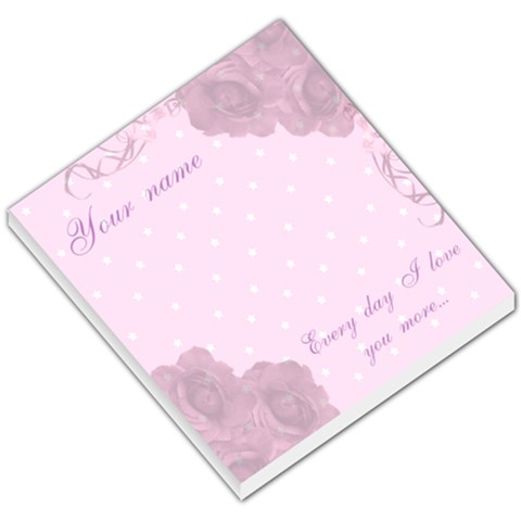 Every Day I Love You More Small Memo Pad By Claire Mcallen   Small Memo Pads   Tk5wcyec5j53   Www Artscow Com