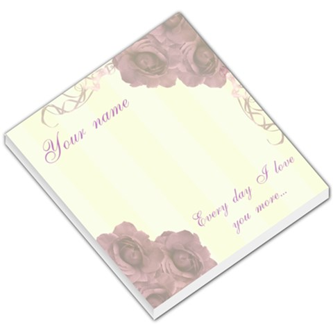 Every Day I Love You More Vintage Small Memo Pad By Claire Mcallen   Small Memo Pads   Fol8aa40i9ej   Www Artscow Com