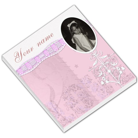 Pink Vintage Love Mirror Frame Small Memo Pad By Claire Mcallen   Small Memo Pads   A7r9cb6eczt5   Www Artscow Com