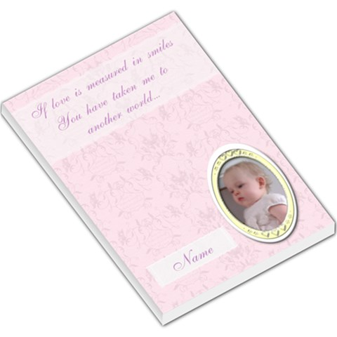 Lilac Classic Toile Love Memo Pad By Claire Mcallen   Large Memo Pads   Lw01smp2lvz2   Www Artscow Com