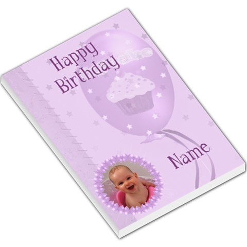 Happy Birthday Large Purple Memo Pad By Claire Mcallen   Large Memo Pads   Cvzg3n60ezss   Www Artscow Com