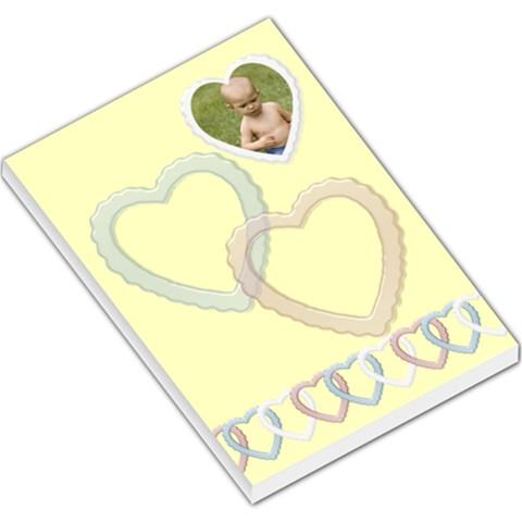 Little Hearts Large Memo By Deborah   Large Memo Pads   Tkzqss67kdbb   Www Artscow Com