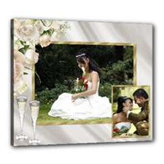Anniversary/wedding/celebration stretched 24x20 canvas - Canvas 24  x 20  (Stretched)