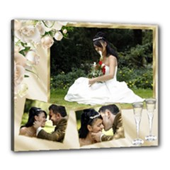 Cream wedding/celebration stretched 24x20 canvas - Canvas 24  x 20  (Stretched)