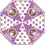 I love my little cupcake folding purple umbrella - Folding Umbrella