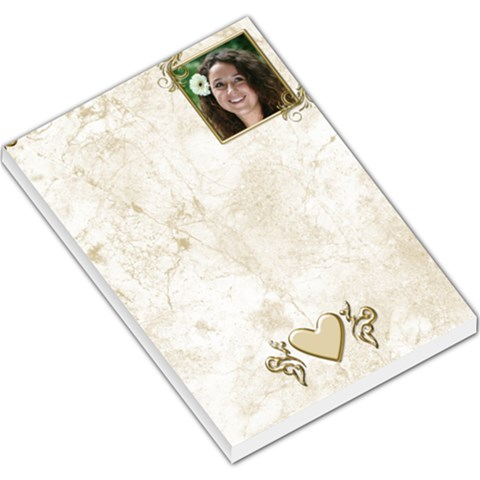 Gold And Marble Large Memo By Deborah   Large Memo Pads   Byg0jqsvt2in   Www Artscow Com