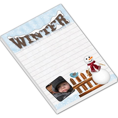 Winter Large Memo Pad By Lil    Large Memo Pads   Lym8ftdtfvkn   Www Artscow Com