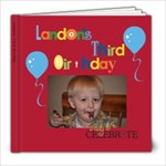 Landon s 3rd Birthday Book - 8x8 Photo Book (20 pages)