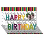 Bright Colors Happy Birthday 3D Card - Happy Birthday 3D Greeting Card (8x4)