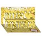 happy birthday - Happy Birthday 3D Greeting Card (8x4)