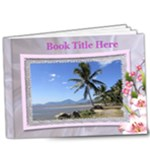 Floral Deluxe 9x7 Book (20 Pages) - 9x7 Deluxe Photo Book (20 pages)