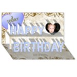 Our Birthday Boy 3D - Happy Birthday 3D Greeting Card (8x4)