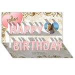 Our Birthday girl 3D - Happy Birthday 3D Greeting Card (8x4)