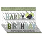Summer Sophisticate Happy Birthday 3D Card - Happy Birthday 3D Greeting Card (8x4)