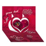 I Heart you pink 3d card - Heart 3D Greeting Card (7x5)