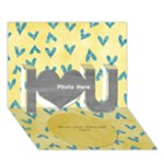 Yellow Love 3D - I Love You 3D Greeting Card (7x5)