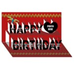 3D Buttercup Birthday Card 1 - Happy Birthday 3D Greeting Card (8x4)