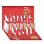 3D Sock Monkey Love Thank You Card 1 - THANK YOU 3D Greeting Card (7x5)