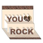 You Rock 3D Card - You Rock 3D Greeting Card (7x5)