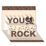 You Rock 2 3D Card - You Rock 3D Greeting Card (7x5)