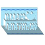 Birthday - 3d card - Happy Birthday 3D Greeting Card (8x4)