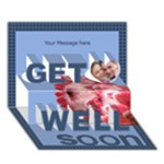 3D Named Get well soon card - Get Well 3D Greeting Card (7x5)