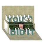 Congrats you did it 3D Card - You Did It 3D Greeting Card (7x5)