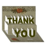 THANK YOU 3D Card (7x5) : thankful4 - THANK YOU 3D Greeting Card (7x5)