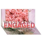 3D engagement card with roses - ENGAGED 3D Greeting Card (8x4)