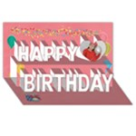 Happy Birthday 3D Card (8x4: birthday1 - Happy Birthday 3D Greeting Card (8x4)