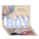 Announcing Our Baby Boy 3D Card - BOY 3D Greeting Card (7x5)