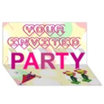 Party invite - PARTY 3D Greeting Card (8x4)