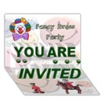 Fancy dress party - YOU ARE INVITED 3D Greeting Card (7x5)